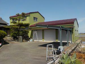 愛西市 屋根・外壁塗装 I様邸 車庫倉庫