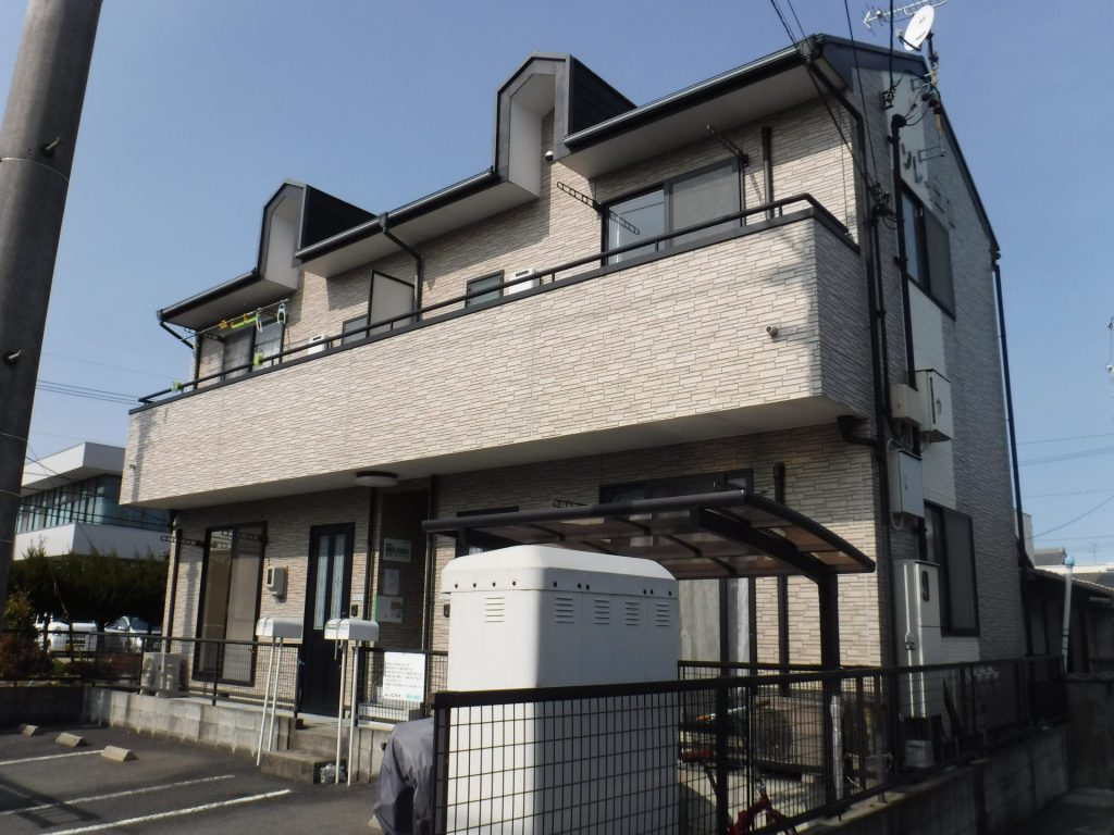 稲沢市 アパート 屋根・外壁塗装施工前
