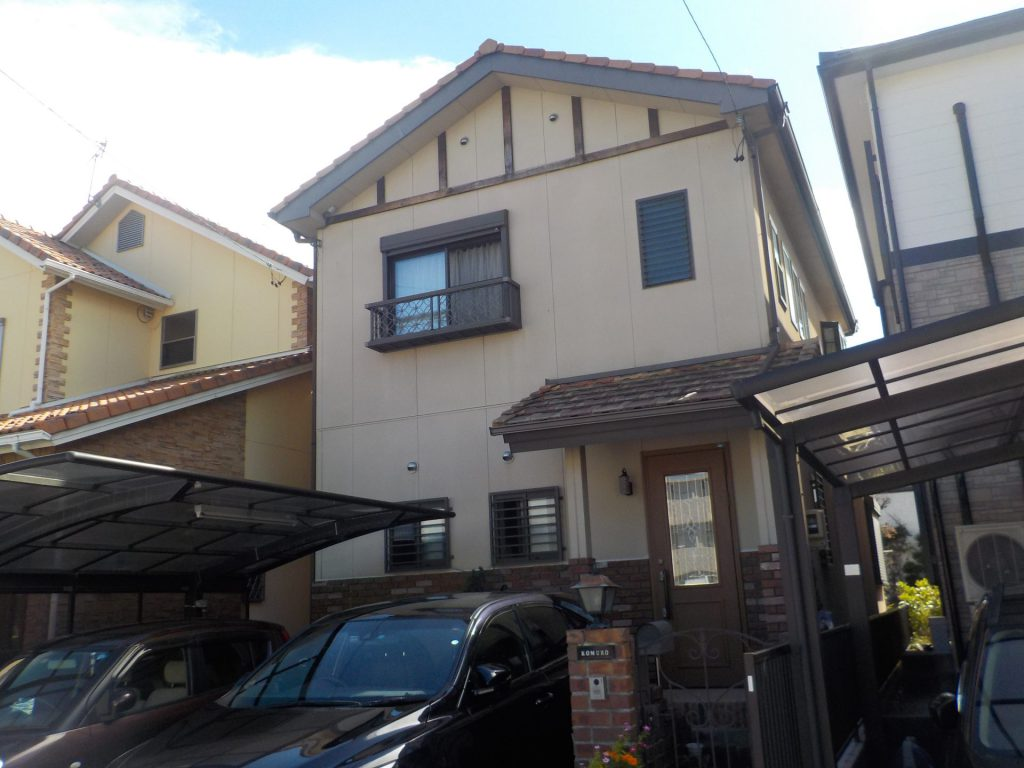 岩倉市 外壁塗装・タイル貼り K様邸施工前