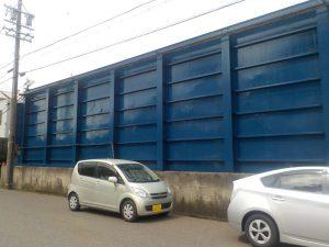 飛島村 工場 塀塗装